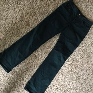 Marylin straight size 8 NYDJ pants green stretchy